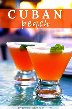 5 minutes · Serves 1 · The traditional Cuban Peach cocktail is made with white rum, peach schnapps and freshly squeezed lime juice.