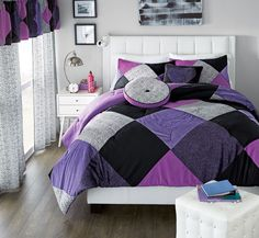 wholeHome®/MD 'Leopard Luv' Collection. #SearsWishlist Canada Shopping, Home Bedroom, Bedroom Ideas, Curtains With Blinds, Rod Pocket, Online Furniture, Comforter Sets, Mattress, Comforters