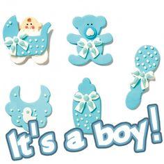 Zuckerdekoration für Gebäck zur Baby-Shower-Party oder zum Geburtstag. #Zuckerdeko