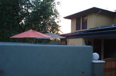 Our yard renovation with new stucco wall and great new colors. Along the greenbelt in north Davis