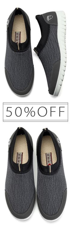 50%OFF&Free shipping.Large Size,Size:6.5-12. Comfy, Soft, Sole, Sports ,Breathable, Cloth Sneakers, Slip On Shoes. Color: Black, Grey, Blue. Shop now~