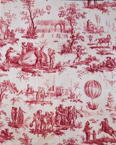 I love toile fabric, probably in every color.