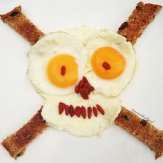 This is a #Scary #Breakfast #Skull for #Halloween!