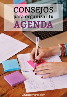 Descubre en #hogarmania los consejos para sacar el máximo rendimiento a tu agenda. Es más fácil de lo que piensas! #consejos #organizar #agenda