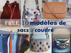 BAG: 10 free sewing patterns and tutorials- SAC : 10 Patrons et Tutos couture gratuits BAG: 10 Free Sewing Patterns and Tutorials Bettinael.Made in France - Sewing Patterns Free, Free Sewing, Couture Sewing, Couture Bags, Little Bag, Sewing For Beginners, Purses And Bags, Pouch, Inspiration