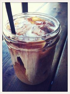 Iced Coffee in a Jar.  #CoffeeTime