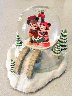 Disney Minnie & Mickey Mouse Caroling Snow Globe, We Wish You a Merry Christmas