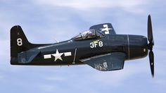 High Resolution Aircraft Military Navy Grumman World War II Warbird F-8 Bearcat Fighters Background: 1920x1080 px ~ navy, world, military, grumman, aircraft, #65333 ~ A-GC.com
