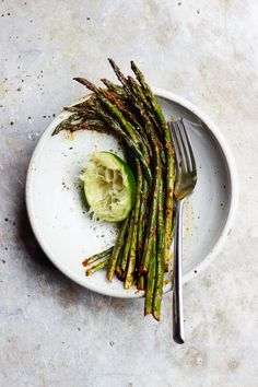 Garlicky Roasted Chili Lime Asparagus | With Food + Love