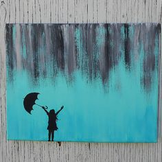 painting silhouette people on canvas - Google Search