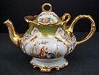 Superb Antique Scenic Klemm Dresden Tea Pot
