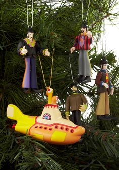 Singing a Happy Toon Ornament Set - Multi, Vintage Inspired, 60s, 70s, Dorm Decor, Quirky