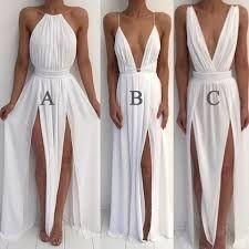 Resultado de imagem para long white beach dress