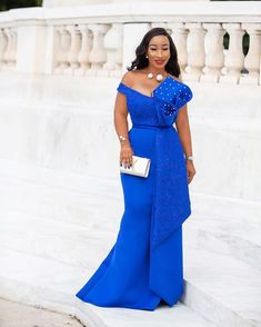 Wedding guest / Aso-ebi Styles 2019 - wedding guest book ideas - Styles} - Step Out Gracefully With These 40 Trend-setting Wedding guest Styles; Latest African Fashion Dresses, African Dresses For Women, African Attire, Long Sleeve Evening Dresses, Evening Gowns, African Bridesmaid Dresses, Dinner Gowns, Lace Dress Styles, Mermaid Evening Gown