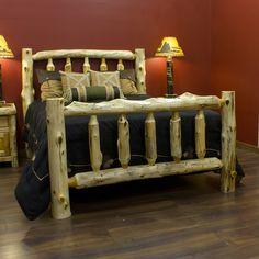 fireside lodge log bed