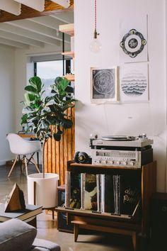 """Un """"Angolo Music"""" in stile Vintage per decorare casa! 20 idee """"Retrò"""" per ispirarvi…"""
