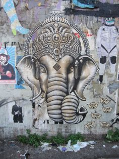 Ganesha in echo park ~Beautiful work.  #art #Ganesha #Echo_Park