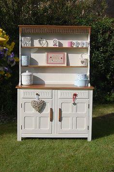Home Shabby Chic Welsh Dresser Ercol Furniture, Shabby Chic Furniture, Painted Furniture, Diy Furniture, Vintage Furniture, Cosy Kitchen, Shabby Chic Kitchen, Shabby Chic Welsh Dresser, Dining Room Hutch