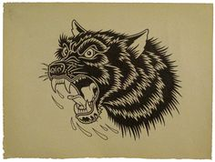 Mike Giant Interview Traditional Tattoo Art, Flash Art, Head Tattoos, Wolf Tattoos, Black Tattoos, Badass Tattoos, Tatoos, Mike Giant, Wolf Illustration