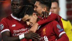 """Incríveis 23 gols em seis jogos   Com Firmino e Coutinho, """"quarteto fantástico"""" crava Liverpool entre forças"""