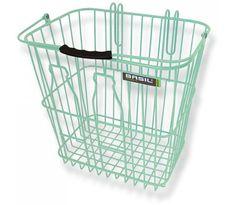 Basil Memories Green Bottle Basket Rear | 99 Bikes