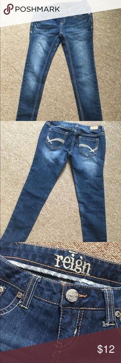 Reign jeans size 1 short Jeans by Reign, size 1 short.  Only worn once.  Excellent condition with no rips or stains. Reign Jeans Skinny