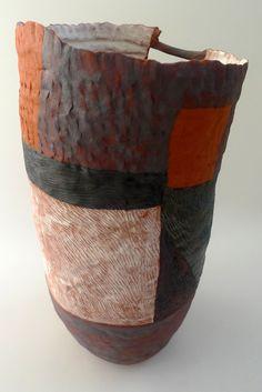 red - vase - ceramic - Helen Fuller