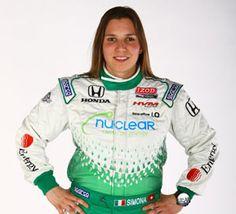 Simona De Silvestro IndyCar Driver of the Nuclear Clean Air Energy Car