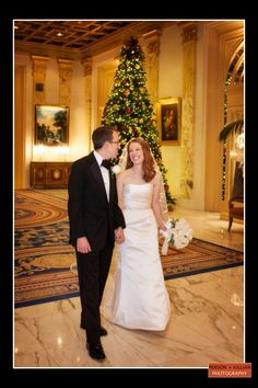 Boston Wedding Photography, Boston Event Photography, Fairmont Copley Boston Wedding, Wedding Formals, Fairmont Copley Lobby, Winter Wedding, Christmas Wedding