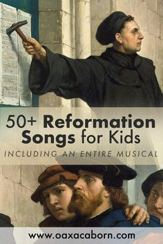 Reformation Songs for Kids (including an entire Reformation musical!) No-Prep Reformation Lessons Bible verses Reformation History, Reformation Day, Martin Luther Reformation, 3rd Grade Classroom, Classroom Ideas, Bible Lessons, Object Lessons, Christian Kids, Preschool At Home
