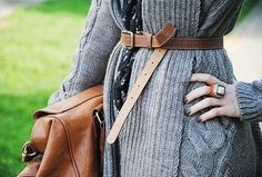 Sweater layers for Fall.