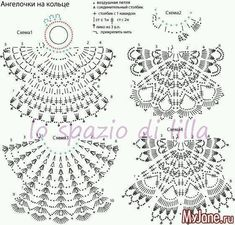 This Pin was discovered by Lup Crochet Christmas Ornaments, Christmas Crochet Patterns, Holiday Crochet, Crochet Snowflakes, Crochet Home, Crochet Baby, Knit Crochet, Crochet Diagram, Crochet Chart