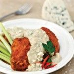 Buffalo Baked Chicken with Gorgonzola Cream Sauce - LC Foods Community - use crushed pork rinds (4 oz bag) instead of the LC breading mix