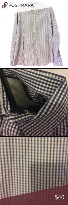 Theory gingham blue and white button up Men's theory button up in excellent condition Theory Shirts Dress Shirts