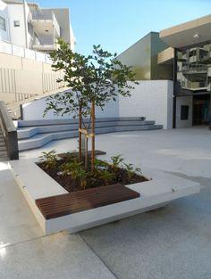 Helensvale Library custom seat planter