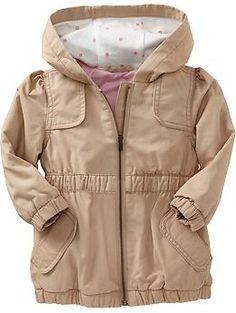 Hooded-Canvas Jackets for Baby | Old Navy   Легкая ветровка из хлопка. На подкладе.