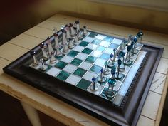Stained glass chess set!