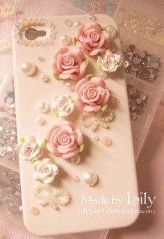 Flower gem iPhone case
