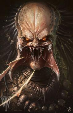 Afiche de Predator - Depredador ilustración de Ceasar Ian Muyuela