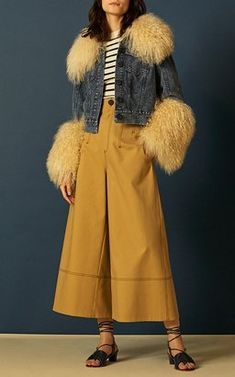 Fur Fitted Jacket and Popstitch Pant by Sea