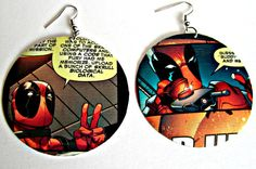 The Original Upcycled Vintage Comic Book Earrings by Customcomix, like these tooo