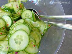Recept | Oosterse komkommer salade - lekker bij een Oosters gerecht met bijvoorbeeld noodles of bulgur of couscous