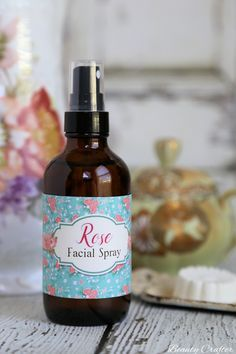 DIY Rose Face Spray is a classic moisturizing facial toner that you can easily make at home. It smells heavenly too!   **I've even included free printable labels for you.