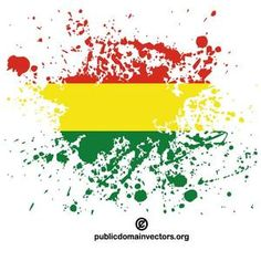 PublicDomainVectors.org-Vector graphics of ink spatter in colors of the flag of Bolivia.