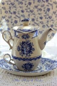 Shades of Blue Teapot: