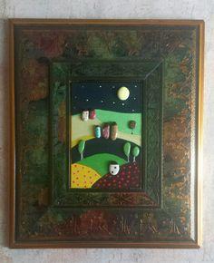 Paesaggio Naif -Painted Stones di RosariaGagliardi