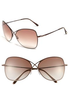7cef952afa1e Tom Ford  Colette  63mm Oversized Sunglasses