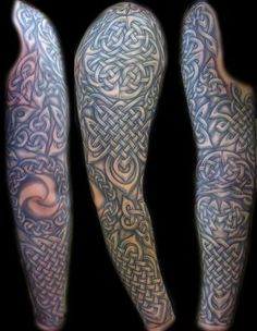 celtic+tattoo+sleeves | Sleeve Tattoos | Black And Grey Sleeve Tattoos | geekinstinct.com