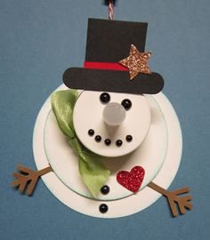 Krafting with Karen: Flameless Candle Snowman Ornament