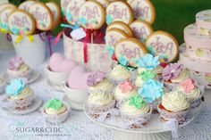 Colourful wedding cup cakes in a lacy décor.So sweet! September 2014, Wedding Cupcakes, Cup Cakes, Wedding Colors, Dream Wedding, Wedding Inspiration, Sugar, Chic, Simple